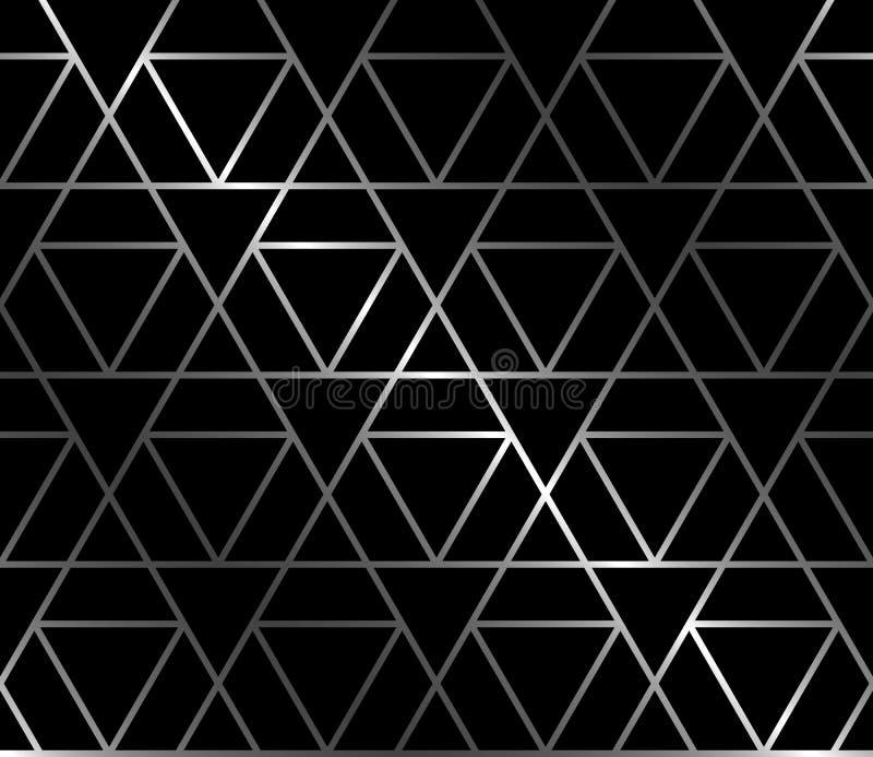 与三角的伪造的无缝的背景 库存例证