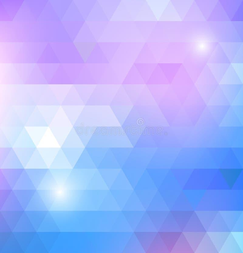 与三角的几何光亮的样式 向量例证