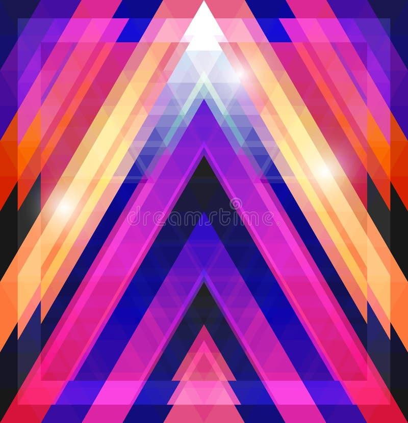 与三角的几何光亮的样式 皇族释放例证