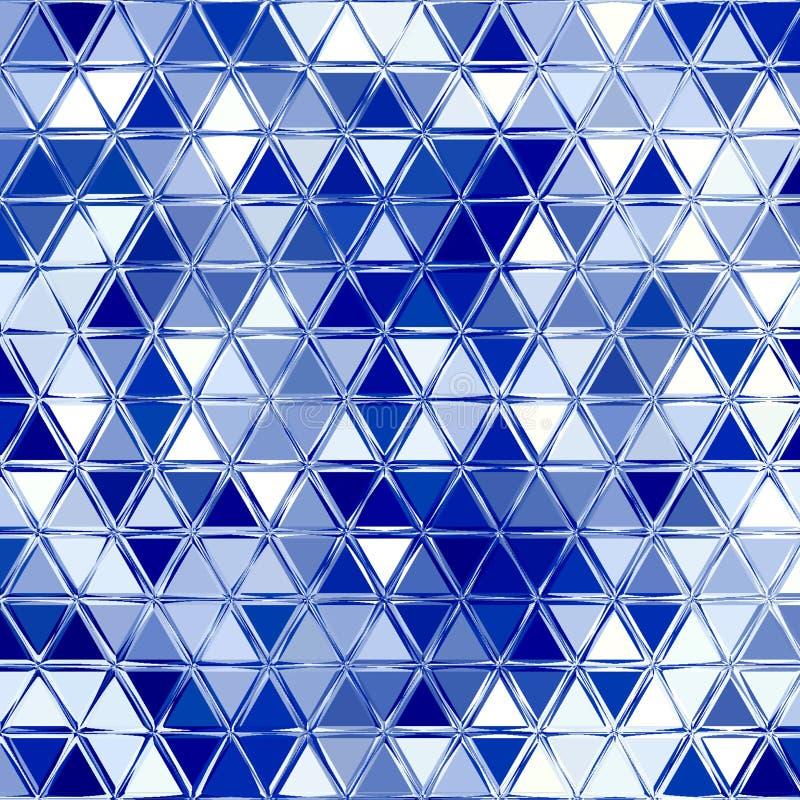 与三角的几何白色蓝色光亮的样式 皇族释放例证