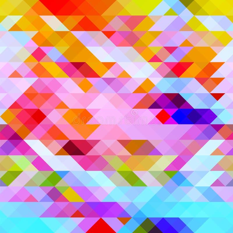 与三角的图表明亮的抽象背景 库存例证
