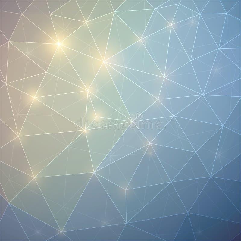 与三角的抽象背景 向量例证