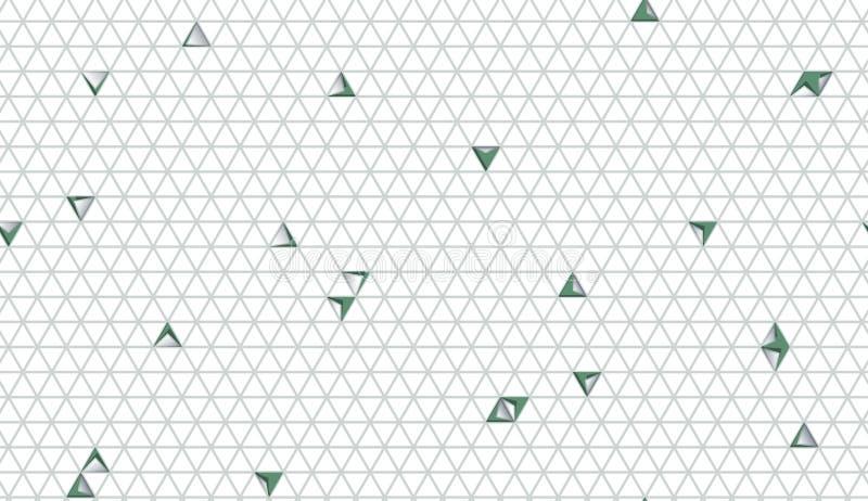 与三角的摘要裁减纸无缝的样式 r 库存例证