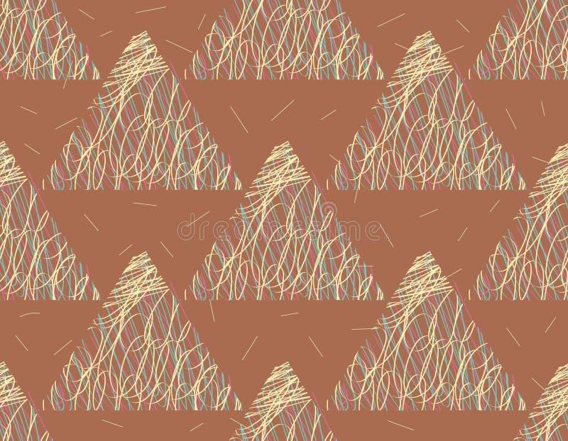 与三角的无缝的样式 库存例证