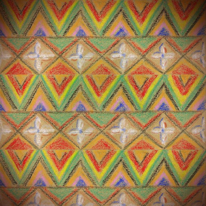 与三角的无缝的纹理 免版税库存照片