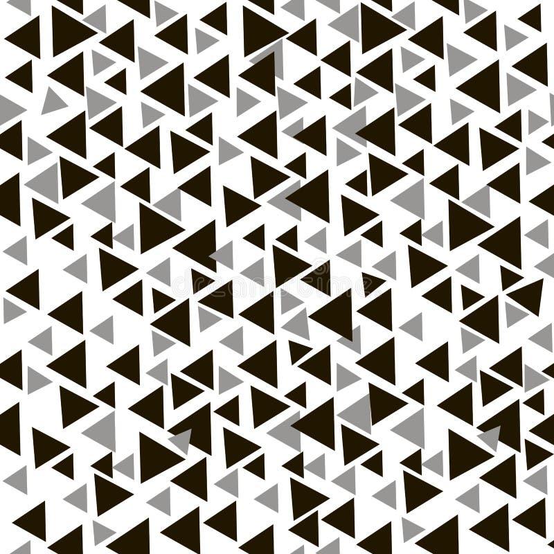 与三角的现代时髦的纹理 抽象模式无缝的向量 库存例证