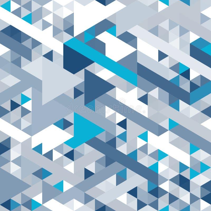 与三角的纹理的抽象背景 文本的白色空间 皇族释放例证