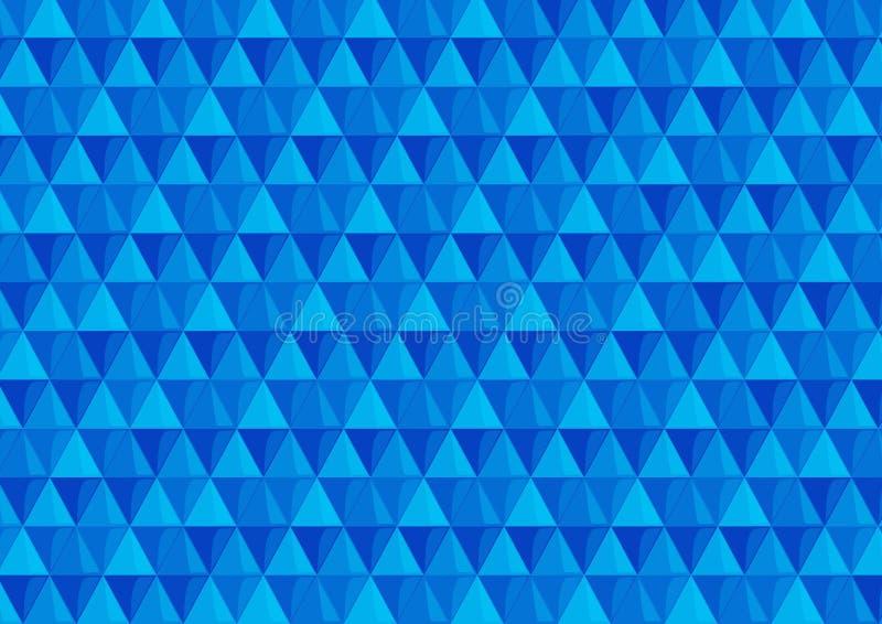 与三角的背景在冷的颜色 库存图片
