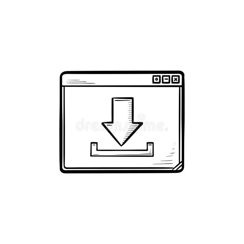 与下载标志手拉的概述乱画象的浏览器视窗 库存例证
