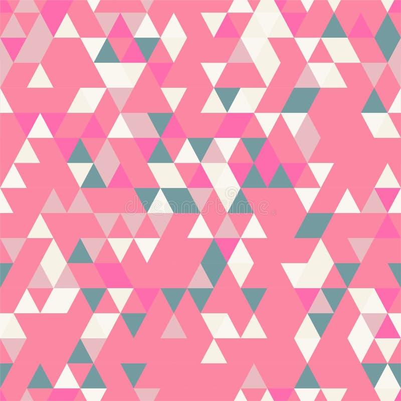 与不同的颜色三角形状的Riangle无缝的背景  向量例证