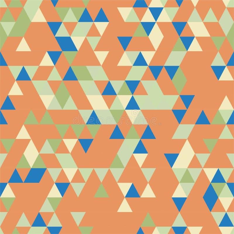 与不同的颜色三角形状的Riangle无缝的背景  皇族释放例证