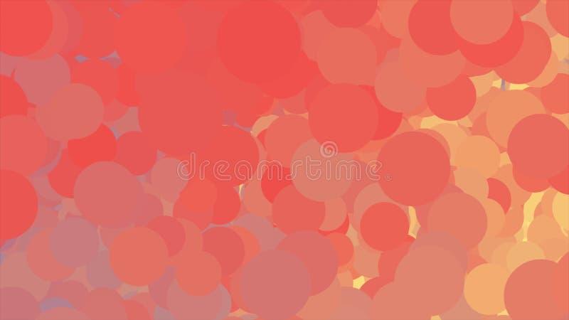 与不同颜色许多圈子移动的云彩的抽象背景  ??? E 向量例证