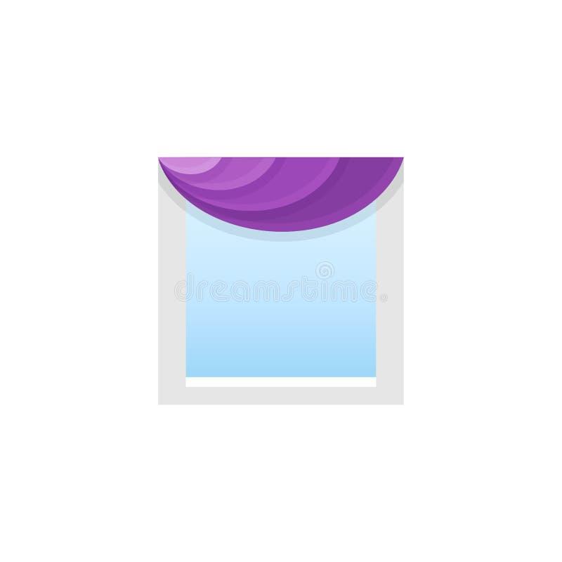 与不对称的赃物的紫色织品挂布 也corel凹道例证向量 向量例证