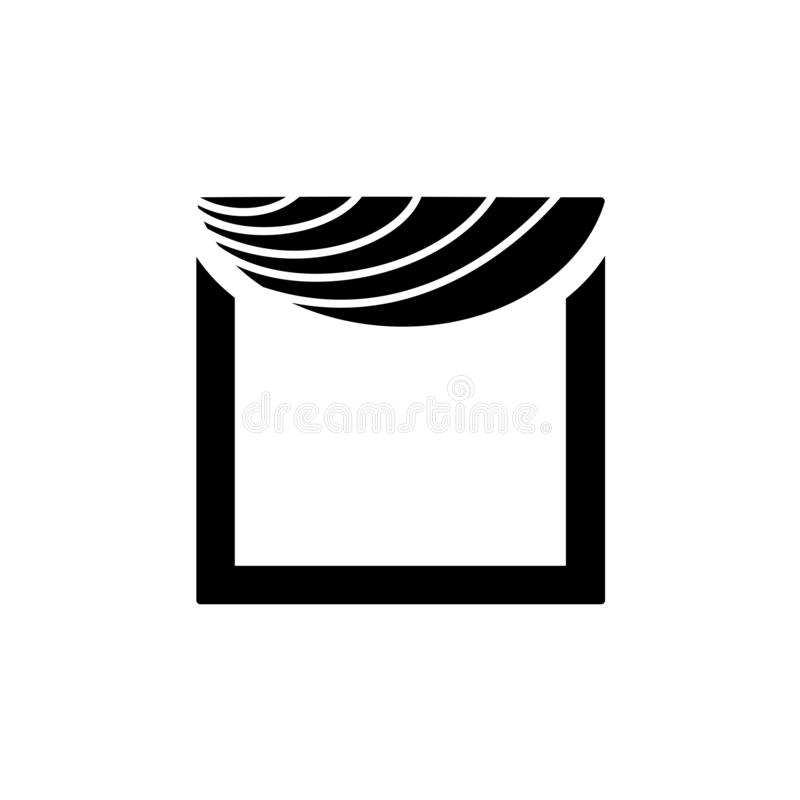 与不对称的赃物的织品挂布 也corel凹道例证向量 平的i 库存例证