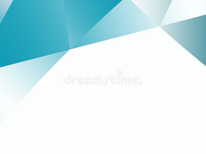 与不规则的三角样式的小野鸭抽象分数维背景 皇族释放例证
