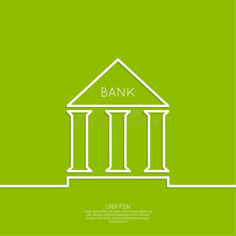与专栏的银行大楼 库存例证