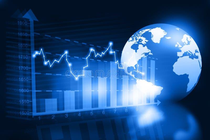 与世界的企业图 向量例证