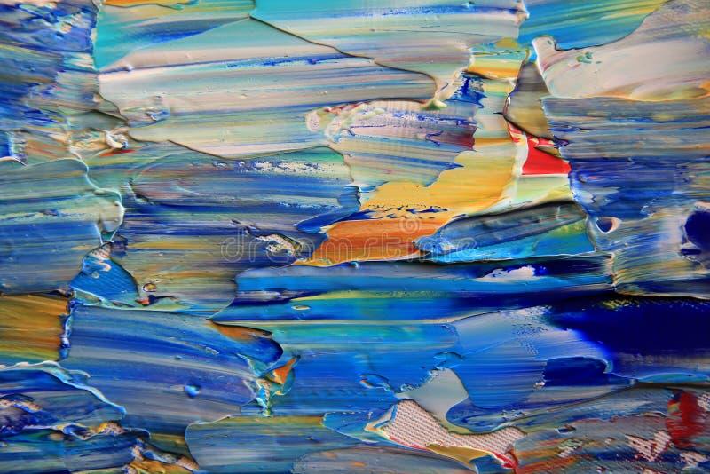 与丙烯酸酯的颜色的艺术抽象油漆 免版税库存照片