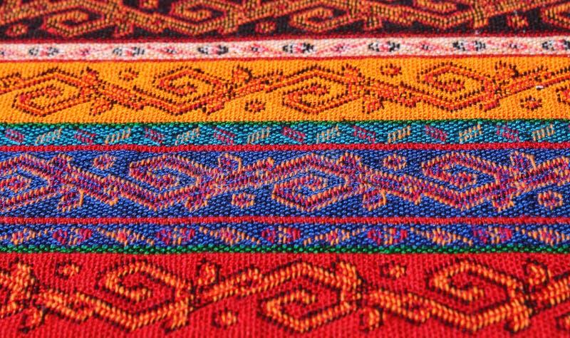 与东方样式的织品 库存照片