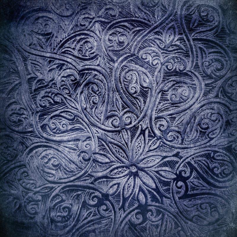 与东方装饰品的Grunge背景 库存照片