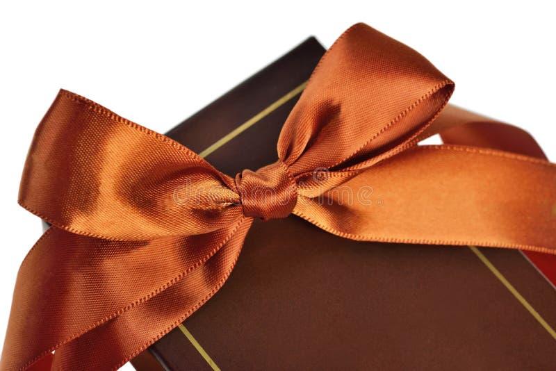 与丝带和弓的礼物盒 库存图片