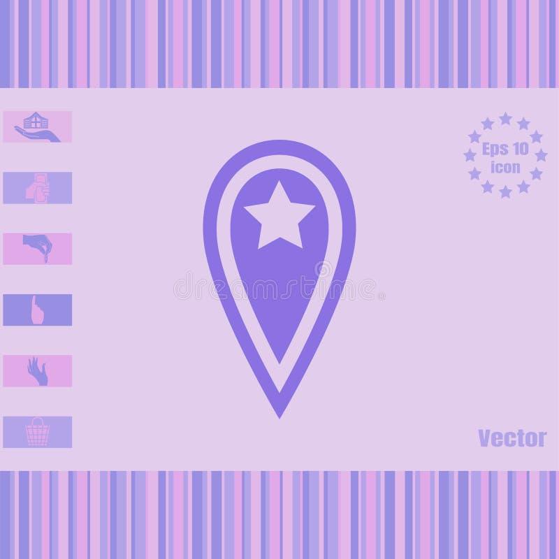 与丝带和星象的地点传染媒介 免版税库存照片
