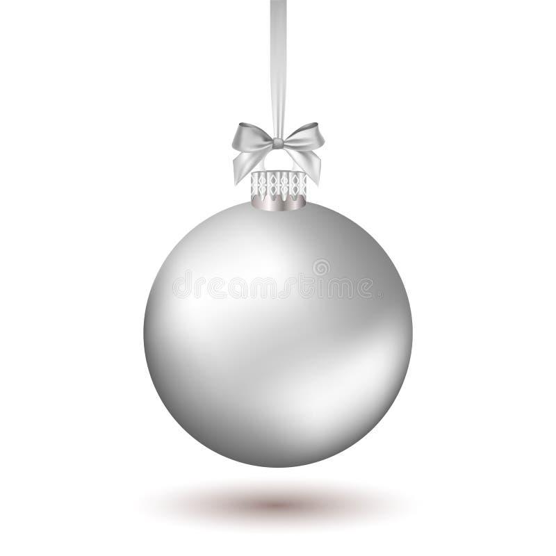 与丝带的圣诞节球 库存例证