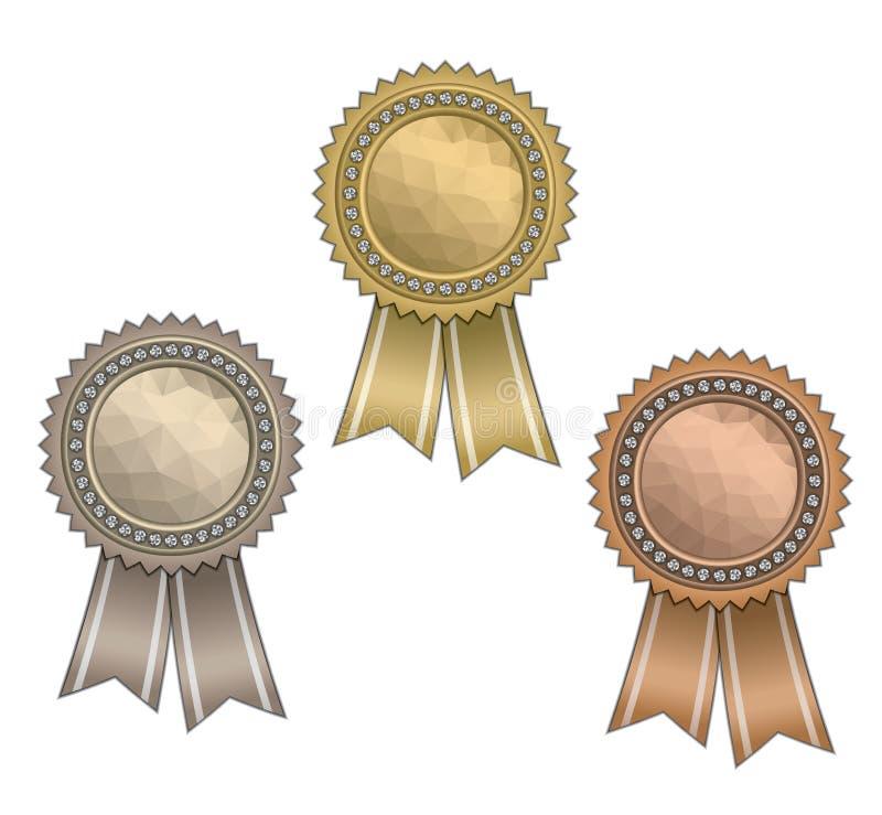 与丝带的奖 向量例证