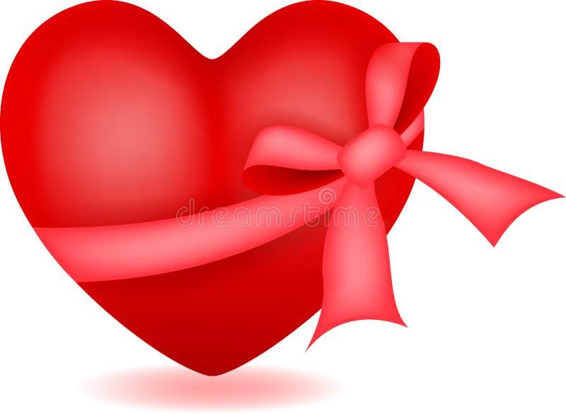 与丝带的心脏