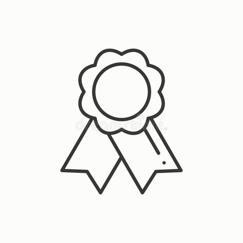 与丝带的金牌奖 优胜者线变薄象 第一个地方领导冠军成就 第1个计算机生成的gols图象安排符号 向量 皇族释放例证