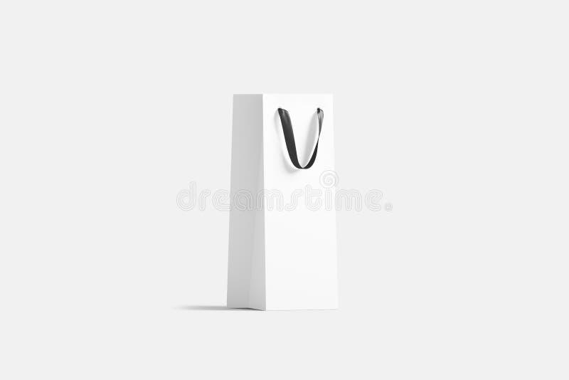 与丝绸把柄大模型的空白高白酒酒瓶袋子, 皇族释放例证