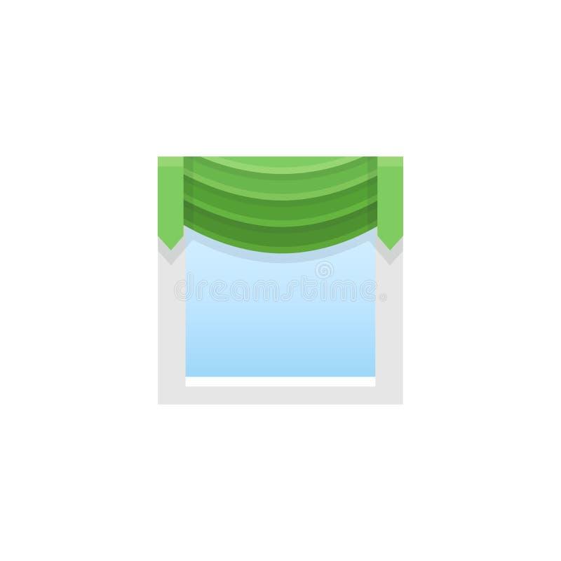 与中央赃物的绿色织品挂布 也corel凹道例证向量 fla 皇族释放例证