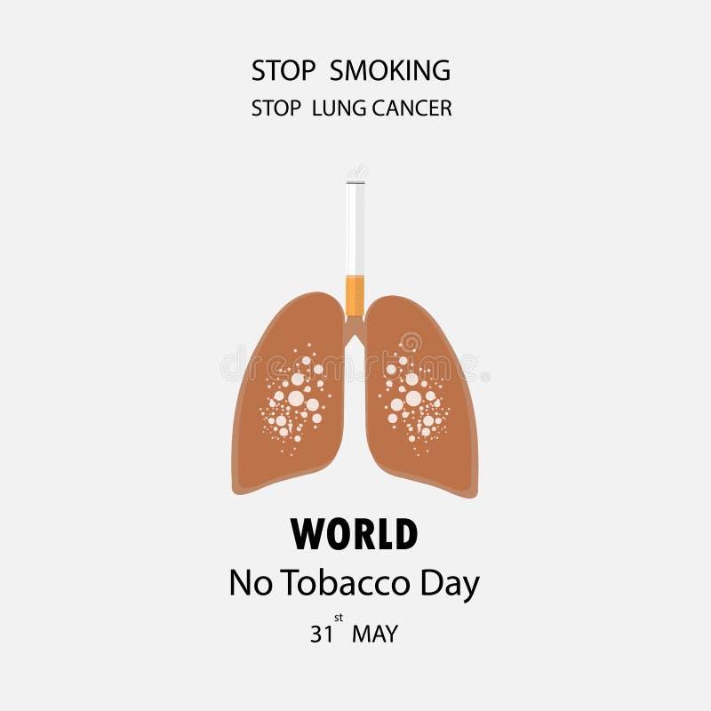 与中止抽烟的传染媒介商标的肺和香烟象设计tem 库存例证