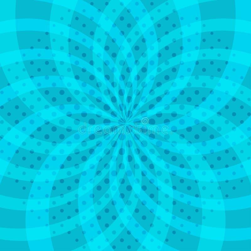 与中间影调的抽象背景在流行艺术样式 也corel凹道例证向量 皇族释放例证
