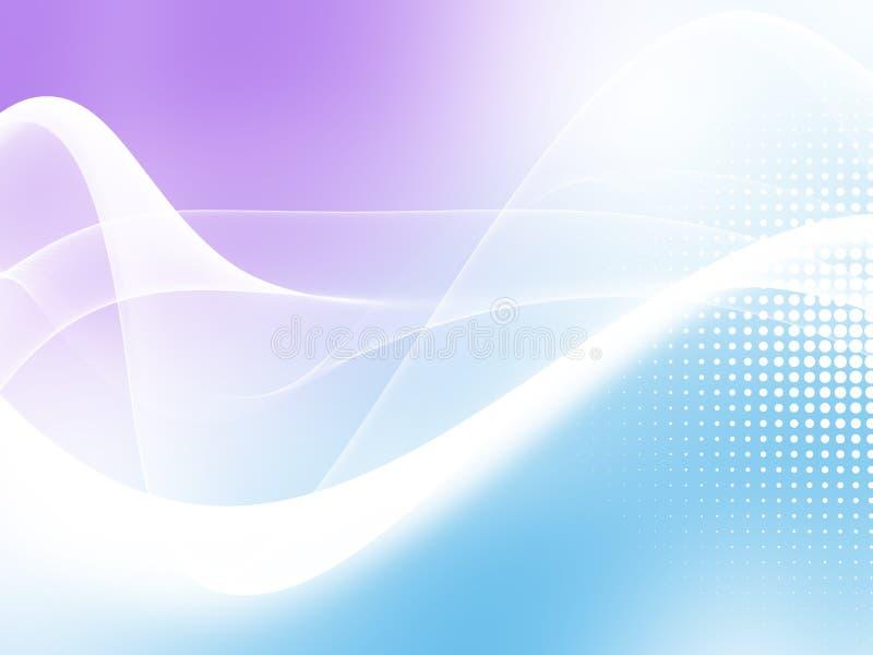 与中间影调的软的蓝色抽象商业图表波浪背景 向量例证