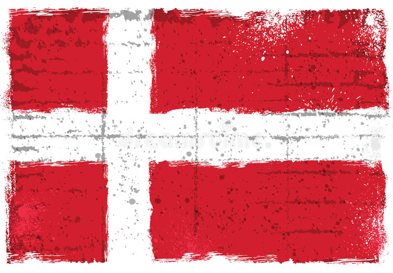 与丹麦的旗子的难看的东西元素 库存照片