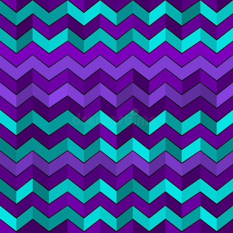 与之字形的无缝的几何样式 皇族释放例证