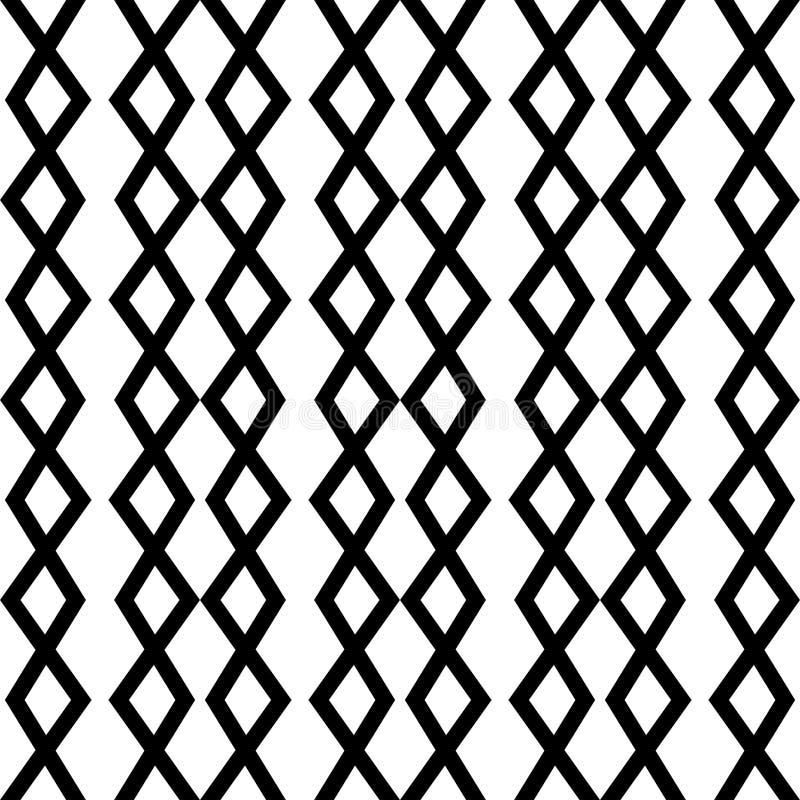 与之字形的现代几何无缝的样式排行, V形臂章,链子 部族主题 时髦的图形设计 库存例证