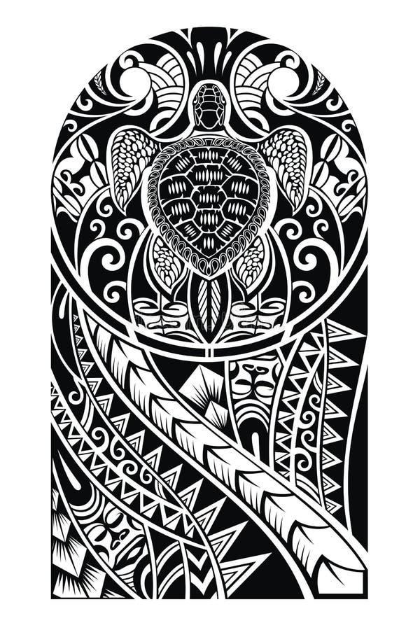 与乌龟的部族纹身花刺