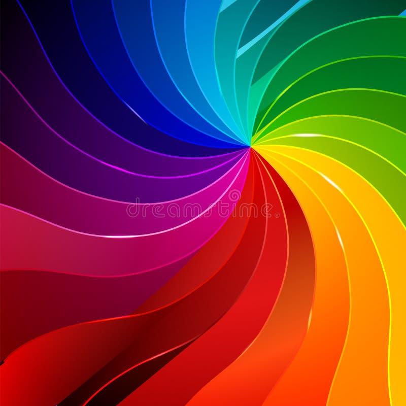 与书的五颜六色的背景呼叫彩虹 库存例证