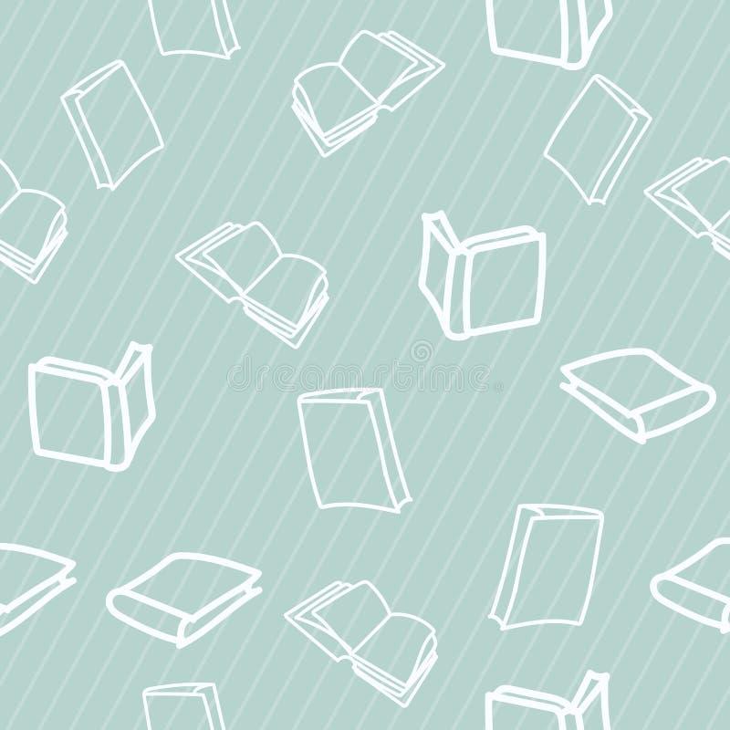 与书的手拉的样式 库存例证