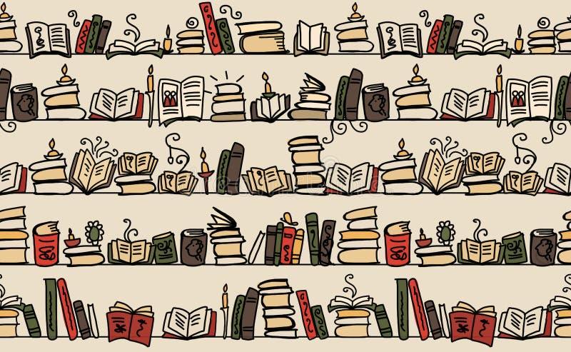 Download 与书的无缝的样式在书架,剪影设计 向量例证. 插画 包括有 减速火箭, 小说, 纸张, browne, 蜡烛 - 72367648