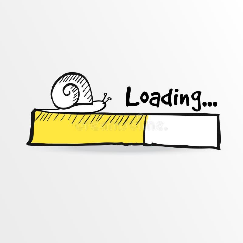 与乱画蜗牛的载重梁,例证 库存例证
