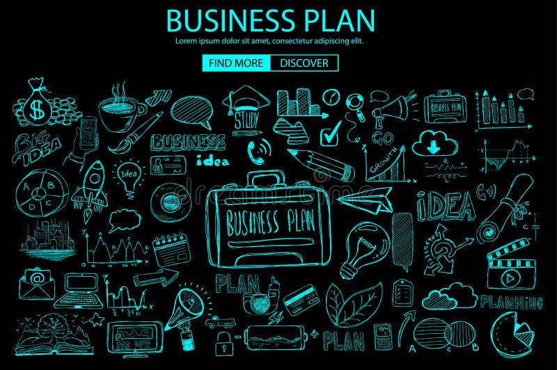 与乱画设计样式的企业规划概念:网上解答 皇族释放例证