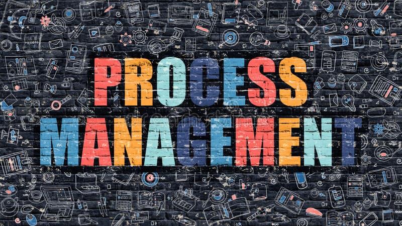 与乱画设计象的进程管理概念 向量例证