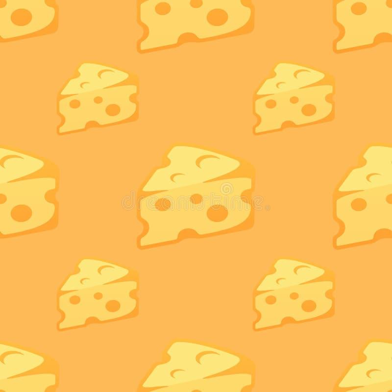 与乳酪片断的无缝的样式  皇族释放例证
