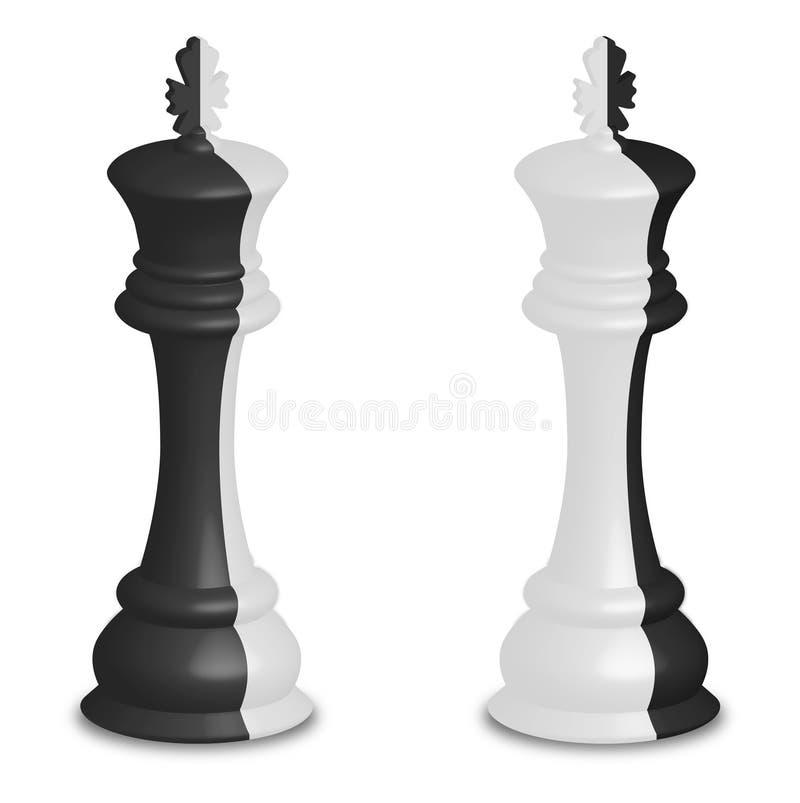 与二个表面的领导先锋 库存例证