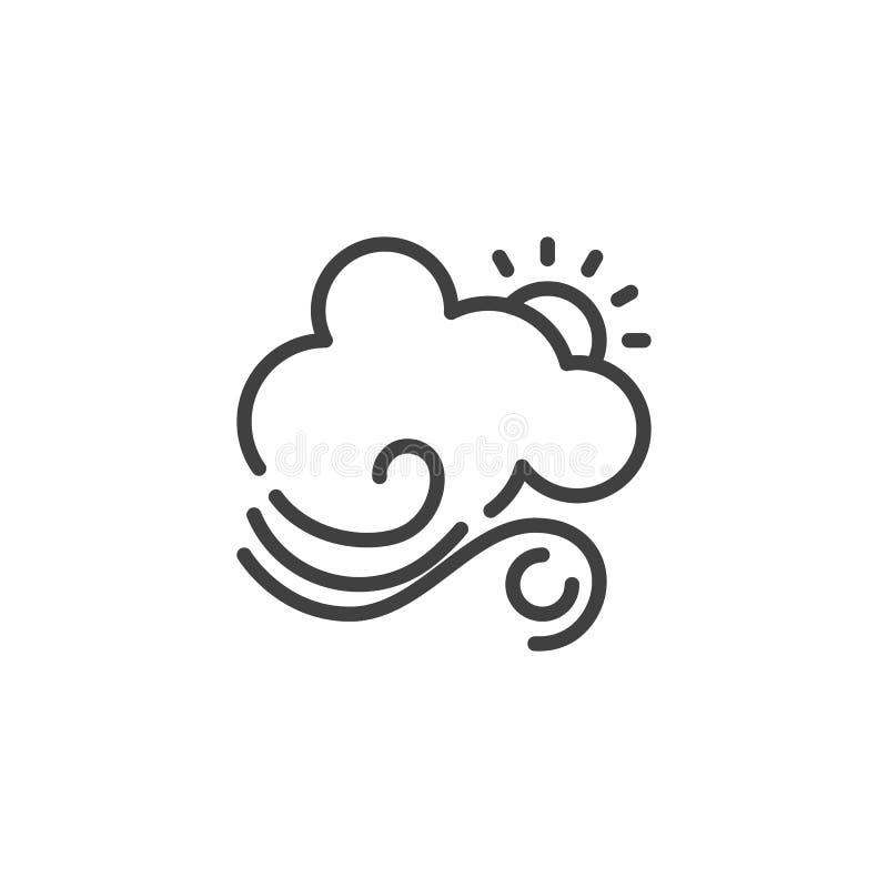 与云彩和风线象的太阳 皇族释放例证