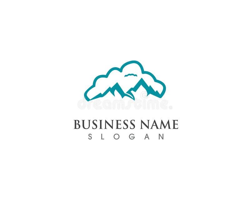 与云彩商标企业模板传染媒介的山 库存例证