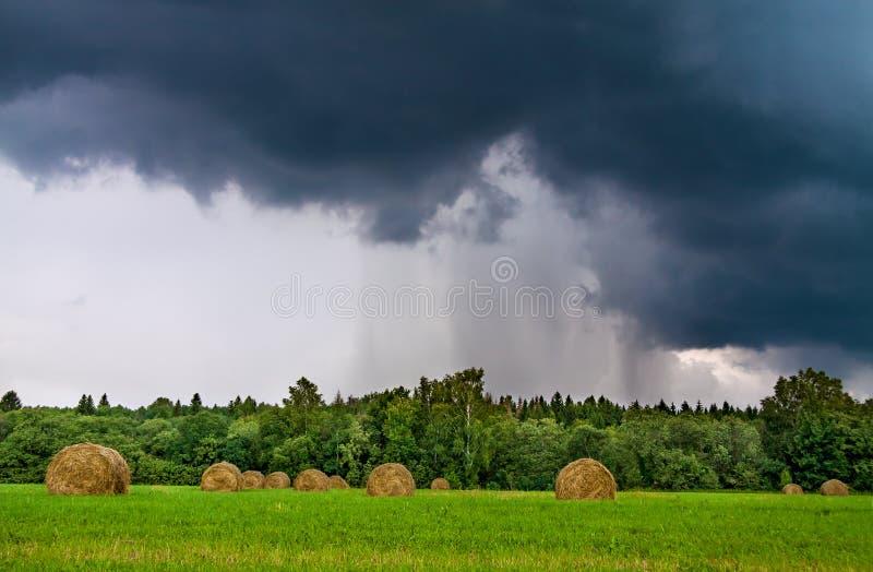 与云彩的天气,雷暴 免版税库存照片